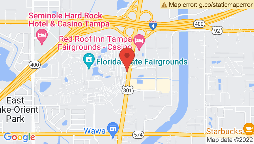 Map for MIDFLORIDA Credit Union Amphitheatre at the Florida State Fairgrounds