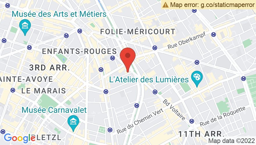 Map for Le Bataclan