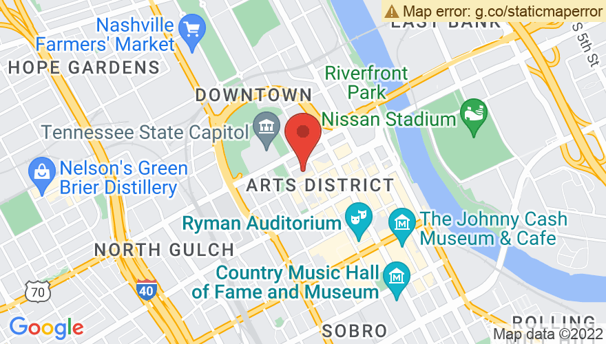 Map for Tennessee Performing Arts Center