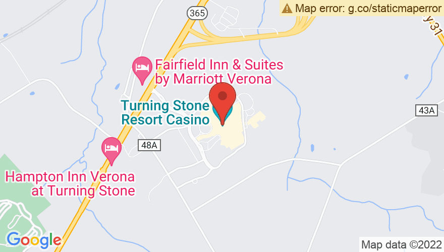 Map for Turning Stone Casino