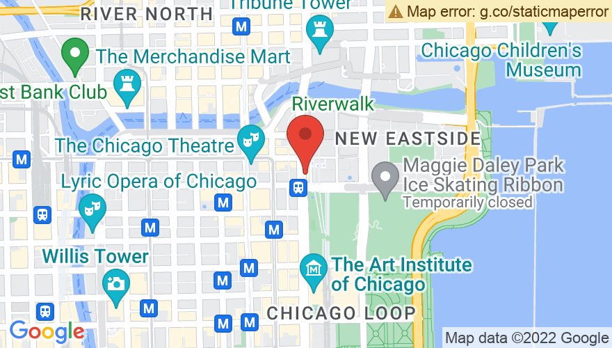 Map for Pritzker Pavilion at Millennium Park