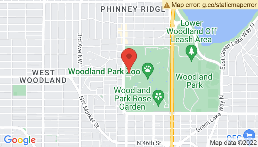 Map for Woodland Park Zoo