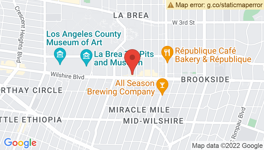 Map for El Rey Theatre