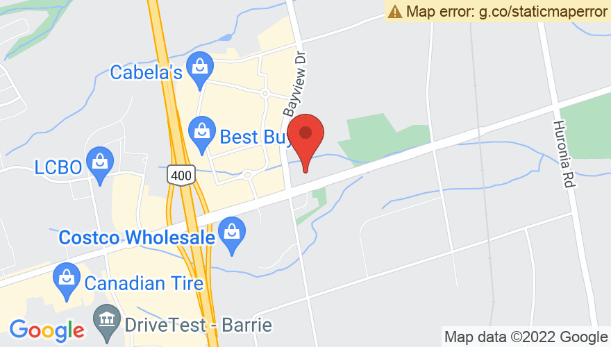 Map for Barrie Molson Center