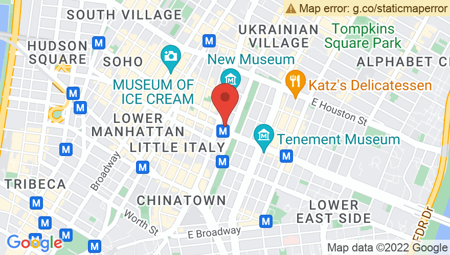 Map for Bowery Ballroom