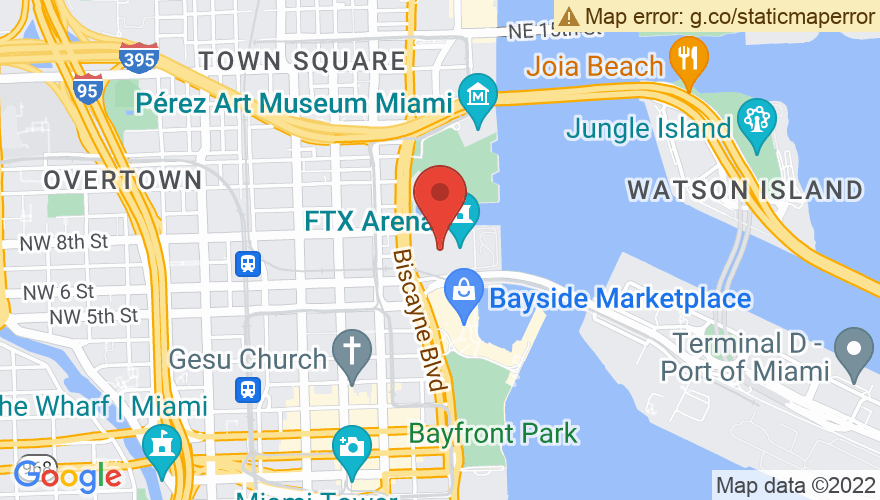 Map for AmericanAirlines Arena