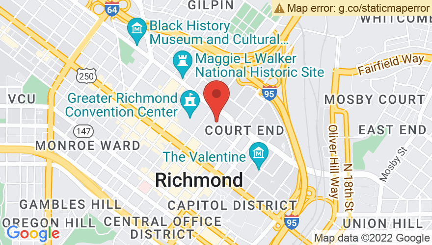 Map for Richmond Coliseum
