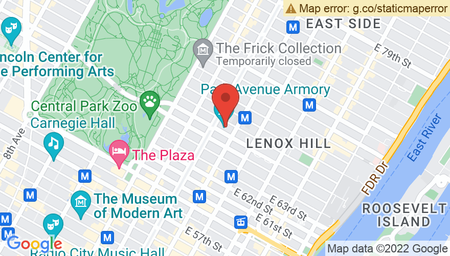 Map for Park Avenue Armory