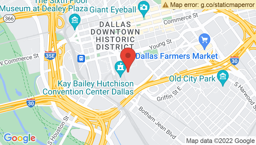 Map for Dallas Convention Center