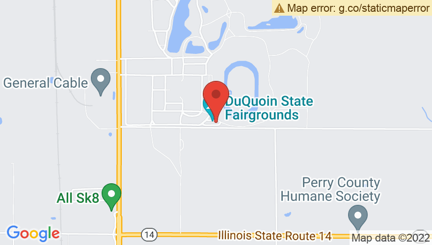 Map for DuQuoin State Fair