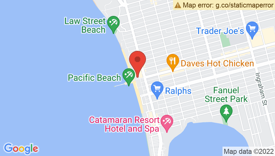 Map for 710 Beach Club (Formerly Blind Melons)