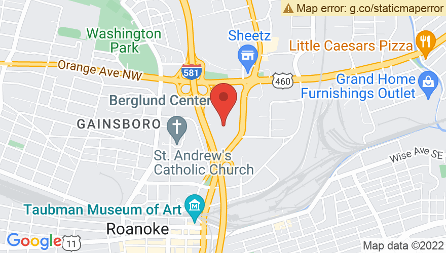 Map for Roanoke Civic Center