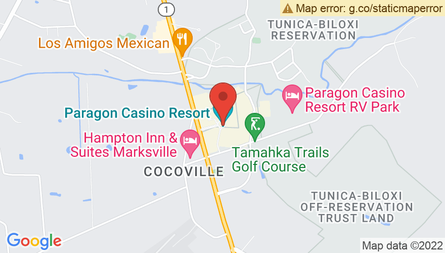 Map for Paragon Casino & Resort