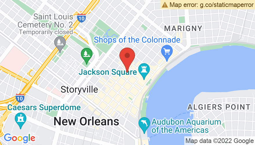 Map for Preservation Hall