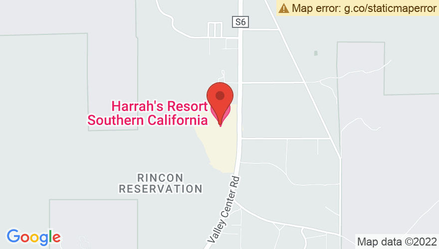 Map for The Events Center at Harrah's Rincon