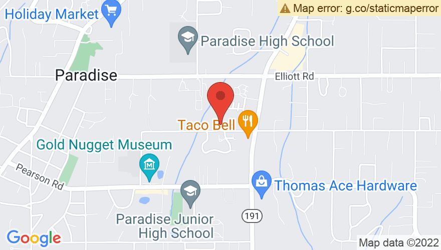 Map for Paradise Performing Arts Center