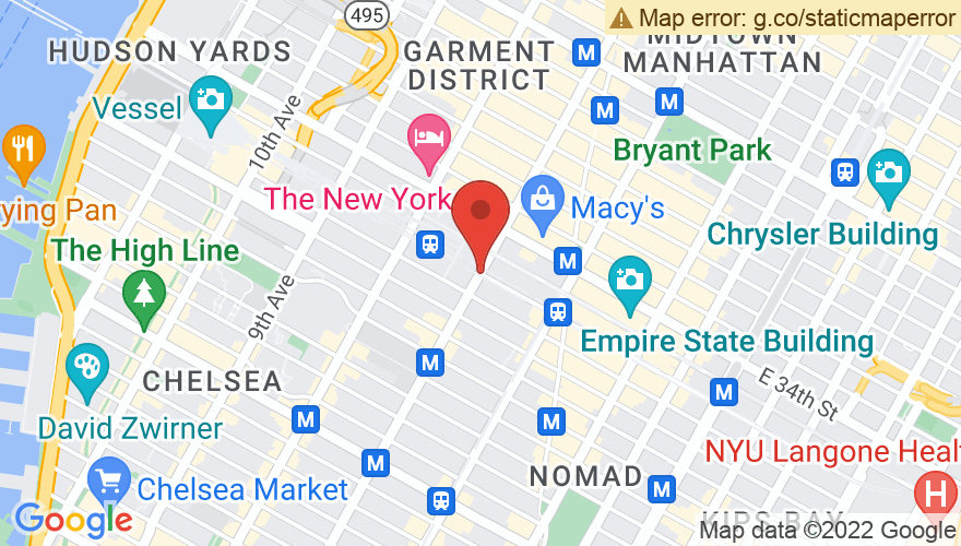 Map for Madison Square Garden