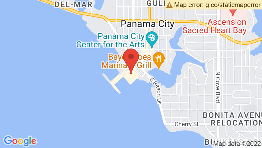 Map for Marina Civic Center