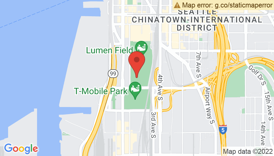 Map for WaMu Theatre