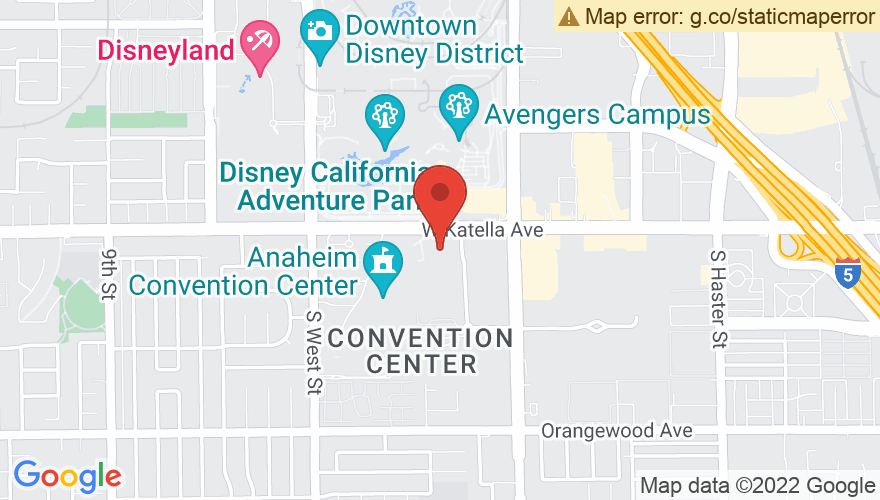 Map for Anaheim Convention Center