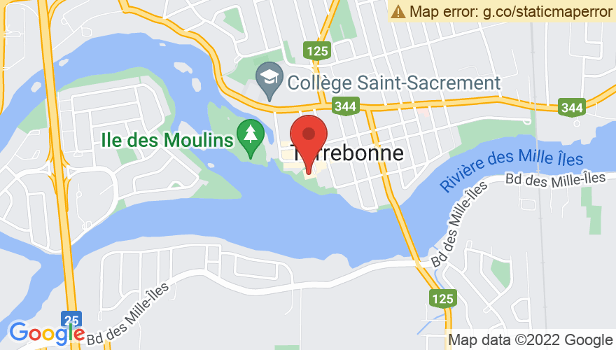 Map for Theatre Du Vieux Terrebonne