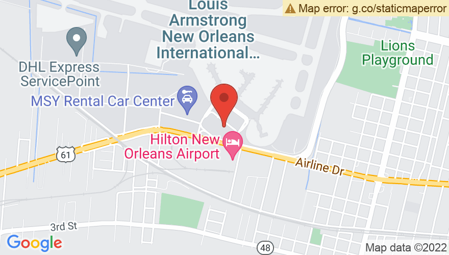 Map for Louis Armstrong International Airport