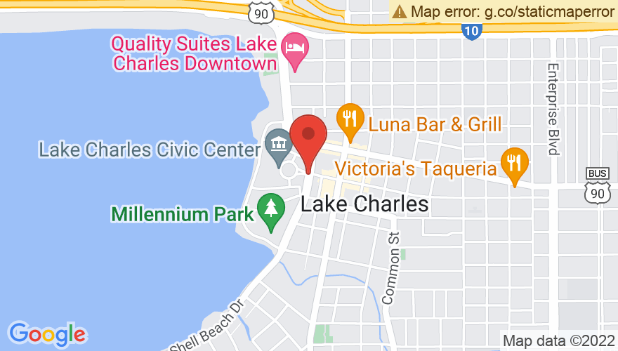 Map for Lake Charles Civic Center