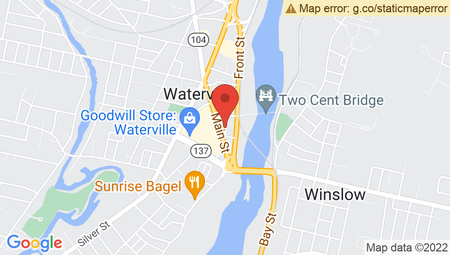 Map for Waterville Opera House