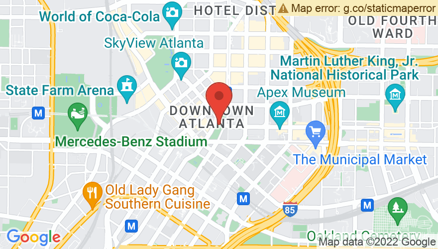 Map for Atlanta Civic Center
