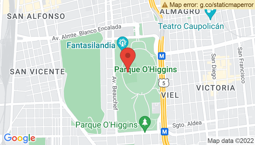Map for Parque O'Higgins