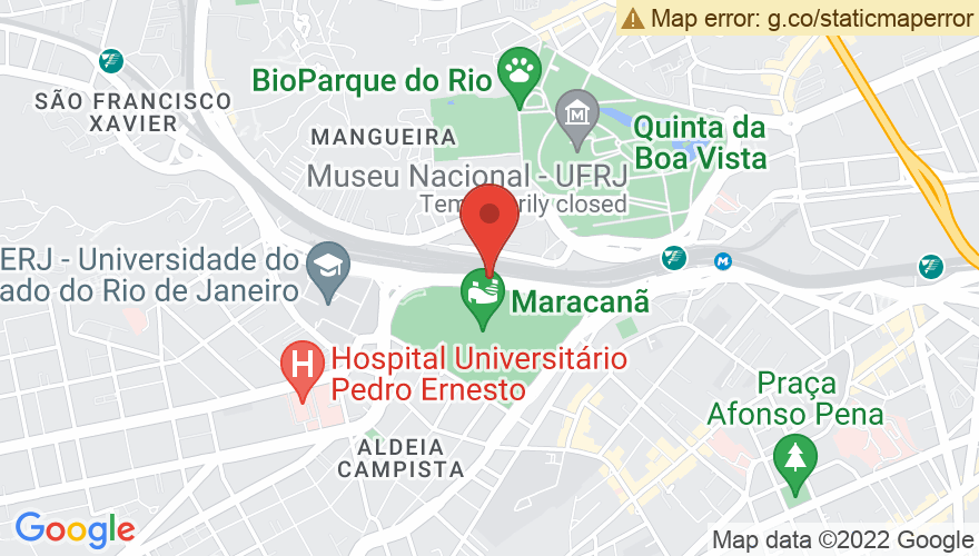 Map for Maracana Stadium