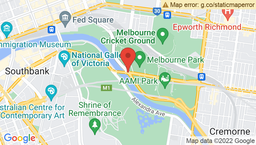 Map for Rod Laver Arena