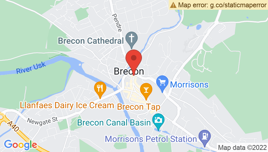 Map for Brecon Beacons