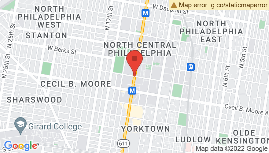 Map for Temple University