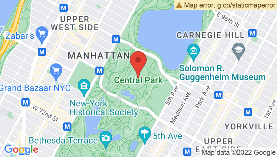 Map for American Museum of Natural History