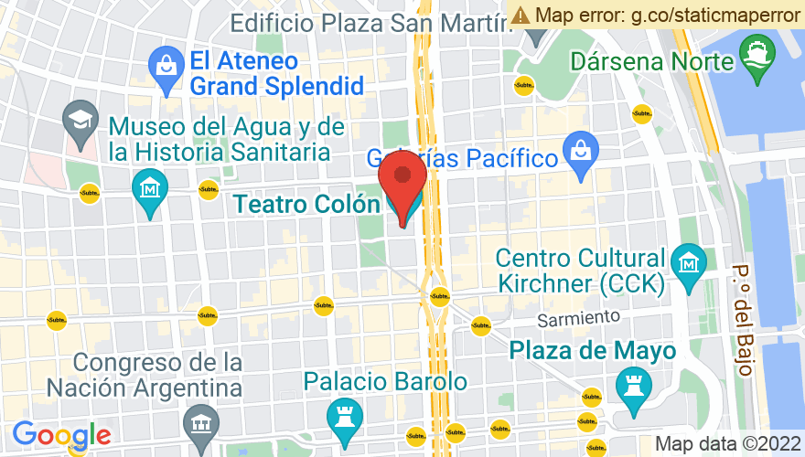 Map for Teatro Colon