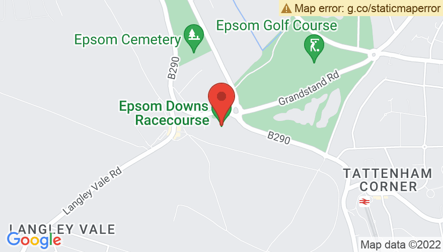 Map for Epsom Downs Racecourse