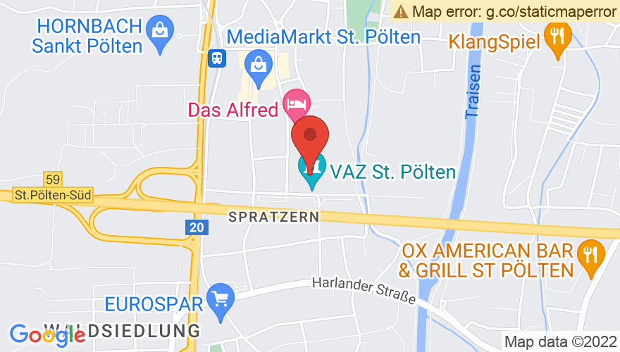 Map for VAZ St. Pölten