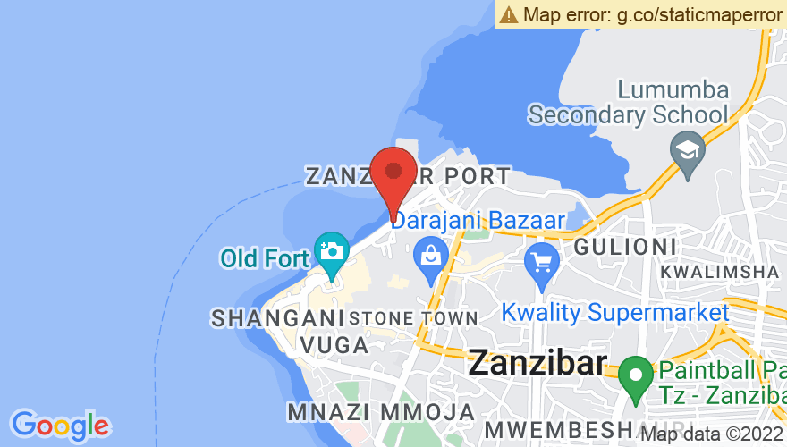 Map for Old Fort of Zanzibar