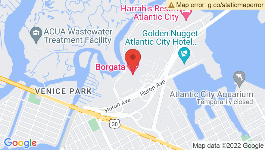 Map for Borgata Music Box