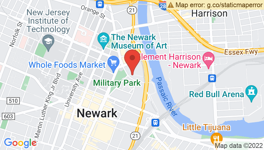 Map for New Jersey Performing Arts Center