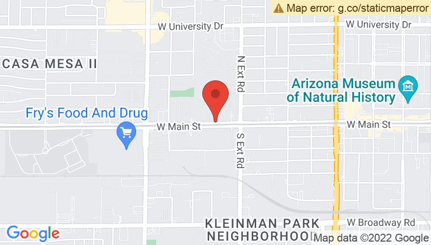 Map for Piper Theater at The Mesa Arts Center