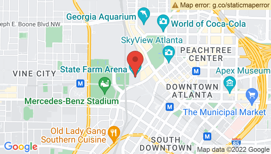 Map for Philips Arena