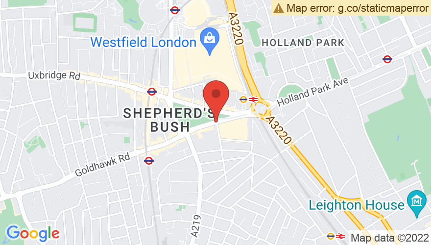 Map for O2 Shepherd's Bush Empire