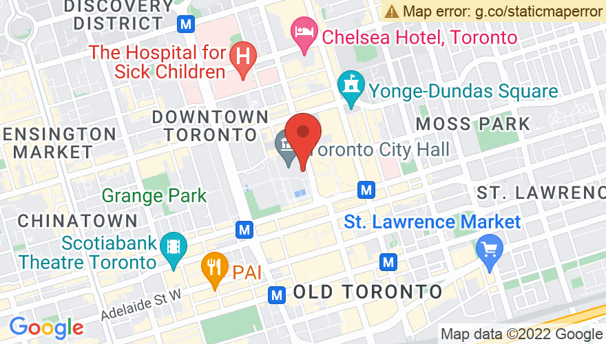 Map for Nathan Phillips Square