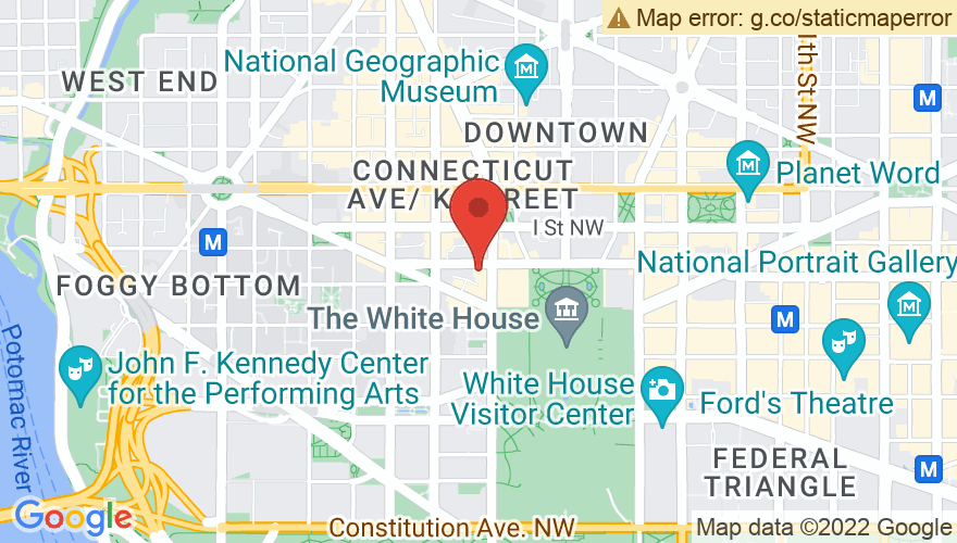 Map for Hirshhorn Museum and Sculpture Garden