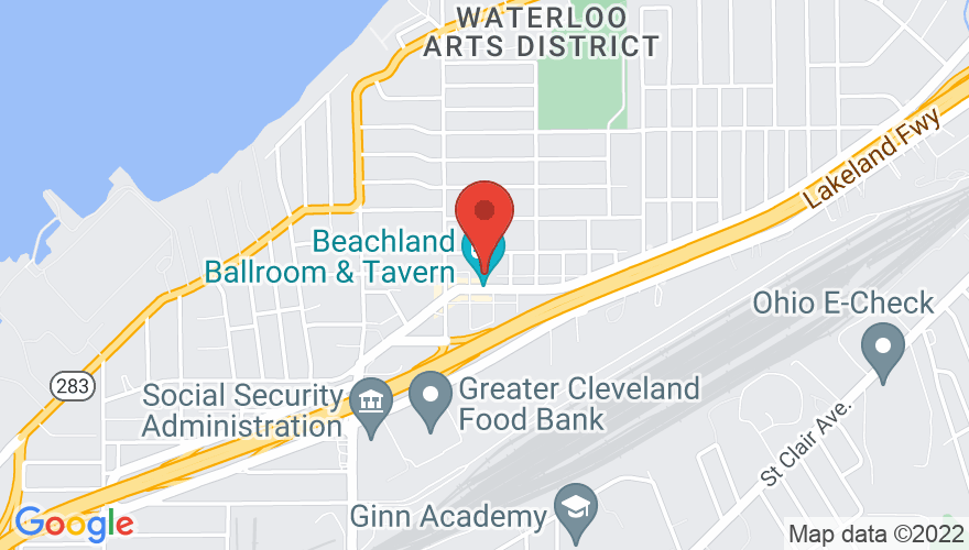 Map for Beachland Ballroom