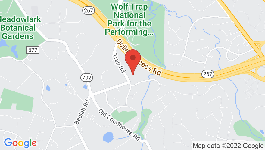 Map for The Barns at Wolf Trap