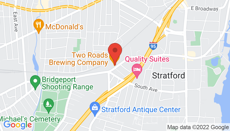Map for Two Roads Brewing Co.