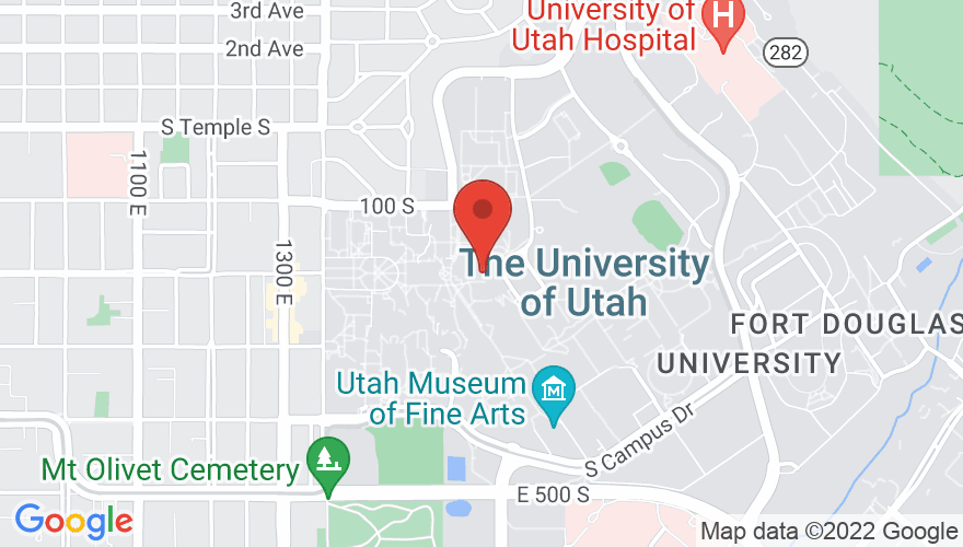 Map for Union Ballroom (University of Utah)